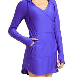 ATHLETA Purple Wick It Wader Swim Cover Up